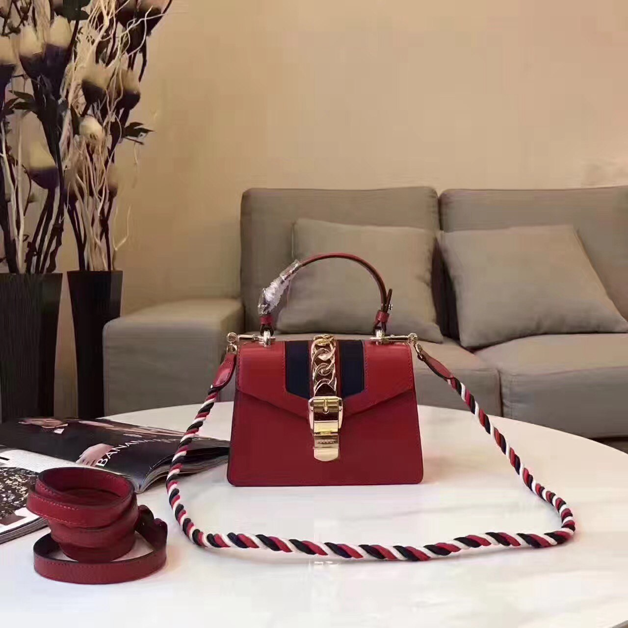 Сумка Sylvie mini bag Gucci 51390