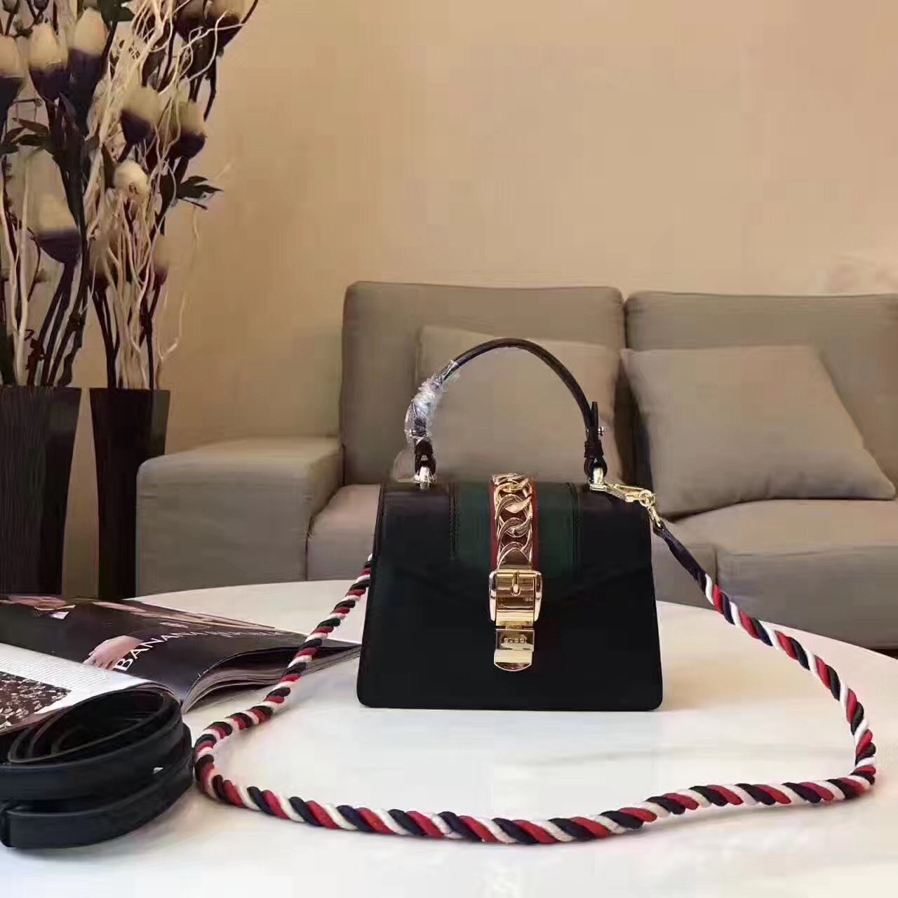 Сумка Sylvie mini bag Gucci 51499